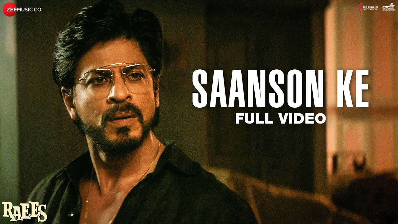 Download Saanson Ke - Full Video | Raees | Shah Rukh Khan & Mahira Khan | KK | Aheer for JAM8
