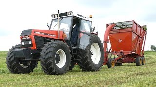 Ursus 1614 Turbo DeLuxe | Making Grass Silage w/ Taarup 605 Forage Harvester | Danish Agriculture