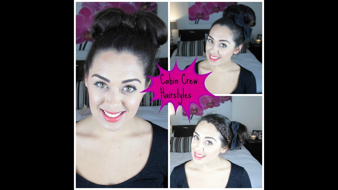 cabin crew hair styles | tasha parker - youtube