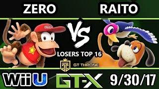 GTX 2017 Smash 4 - TSM | ZeRo (Diddy Kong) vs Raito (Duck Hunt) - Wii U L.Top 16