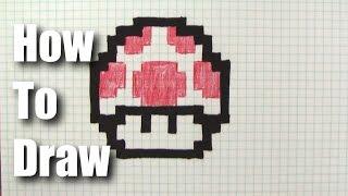 How To Draw a 8-bit Mario Mushroom