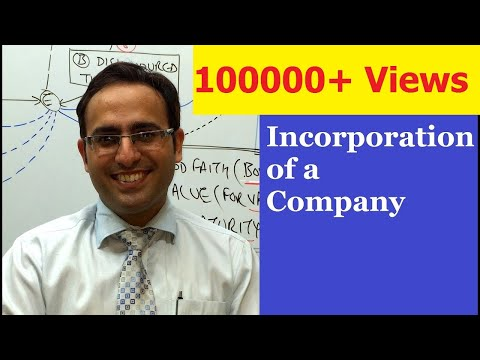 Introduction to Incorporation of a company (Promotion of a company)