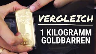 Goldbarren im Vergleich - 1 kg Heraeus, Degussa & Umicore [GOLD]