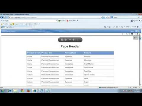 Cognos Tutorial -Restricting Page Header And List Titles To First Page In Report Output