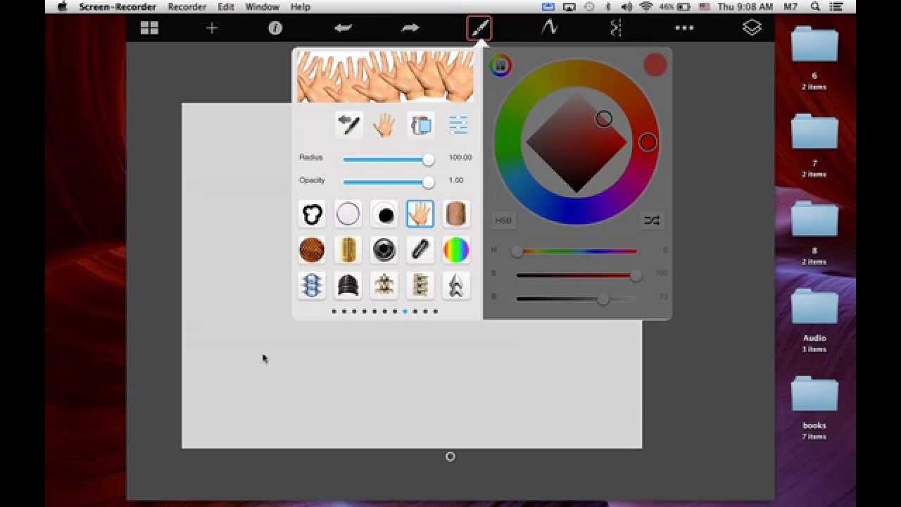 تعلم إستخدام برنامج Sketchbookpro على iPad