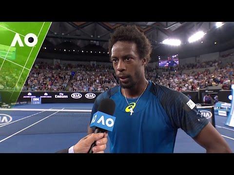 Gael Monfils on court interview (3R) | Australian Open 2017