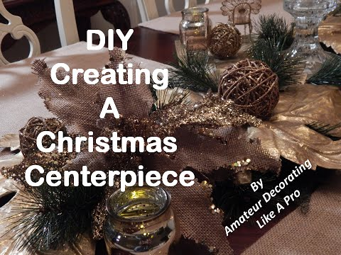 DIY Christmas Centerpiece/Easy Christmas Decor #2