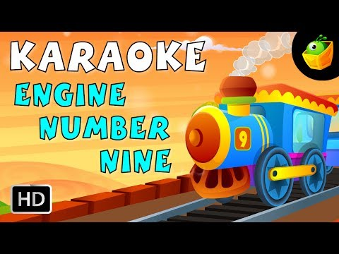 Engine Number Nine - Karaoke Version With Lyrics - Cartoon/Animated English Nursery Rhymes For Kids