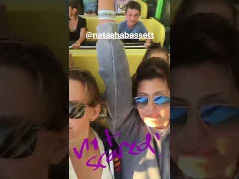 Sibylla Deen & Natasha Basset having fun on a rollercoaster