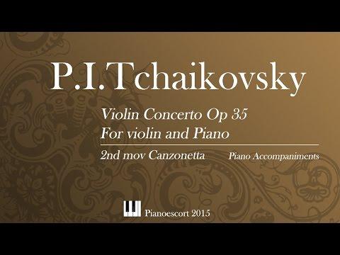 P.I. Tchaikovsky - violin concerto - 2nd mov canzonetta - Piano Accompaniment