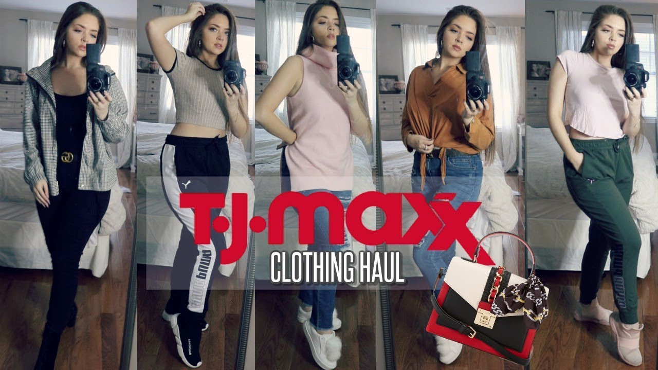 TJ MAXX CLOTHING HAUL (BRAND NAME) + TRY ON   5 OUTFITS   WINTER/SPRING 2019