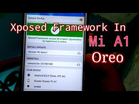 How To Install Official Xposed Framework In Xiaomi Mi A1 Oreo - YouTube