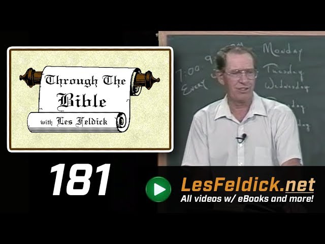 [ 181 ] Les Feldick [ Book 16 - Lesson 1 - Part 1 ] Matthew 26 & 27 They Did Not Know