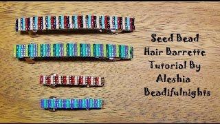 Seed Bead Hair Barrette Tutorial