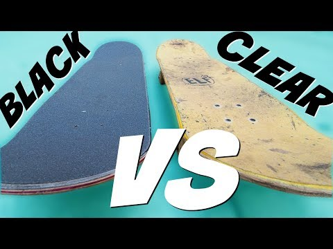 Black VS Clear Skateboard Griptape