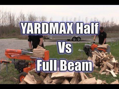 YARDMAX Half Beam Log Splitter Vs Full Beam 35 Ton