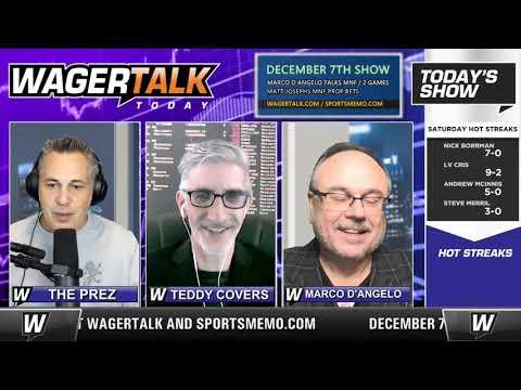 Daily Free Sports Picks | Monday Night Football Picks and Week 13 Recap on WagerTalk Today | Dec. 7
