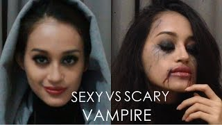 Sexy vs Scary Vampire Makeup | Watch Me Transform |  IBV BOOCTOBER