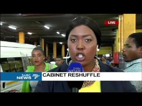 Cabinet reshuffle reactions: Johannesburg