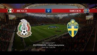 EA Sports FIFA 18 World Cup Mode Prediction / Group F - MEXICO vs SWEDEN in 1080p #44