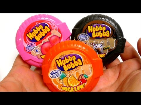Hubba Bubba Bubble Tape - Mega Long 3x Orange, Cola Party & Fancy Fruit Gum
