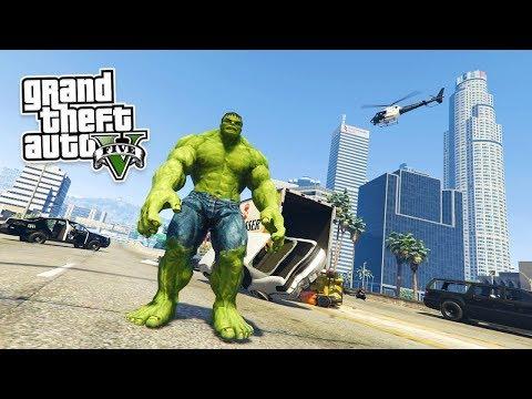 GTA 5 Mods - Hulk chưa trưởng thành đi quánh lộn giành đất | ND Gaming
