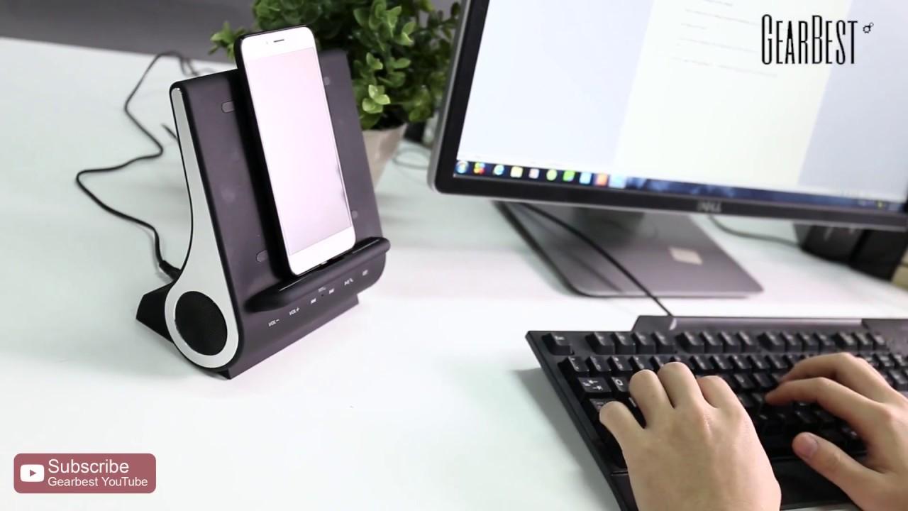 AZPEN D100 Qi Wireless Charger HiFi Speaker - Gearbest.com