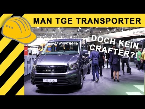 MAN TGE 2017 VAN: IAA Premiere - VW Crafter by MAN - Review & Walkaround Bauforum24 4K