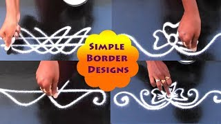 Easy &Simple border rangoli designs# Mungitlo Muggulu