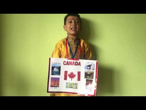 Show & tell- Learn about Country  Canada for Kindergarten Kids- Vivaan Puri
