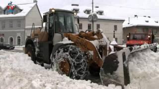 Odvoz snijega iz centra Gospića!