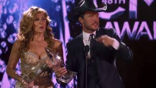 "Rayna Jaymes & Luke Wheeler Winning ""Musical Event Of The Year"" at the 48th CMA Awards"