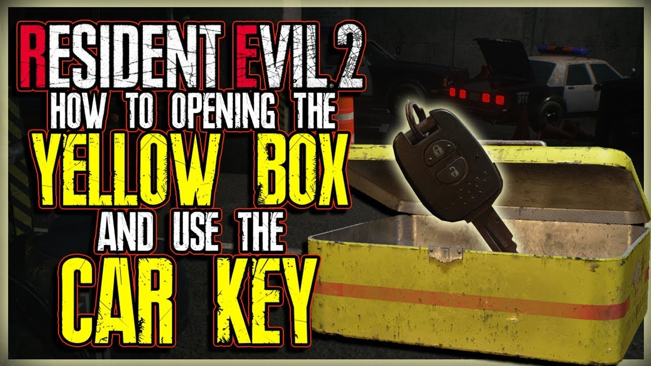 How To Open The Yellow Box And Use The Car Key Inside Resident Evil 2 Remake