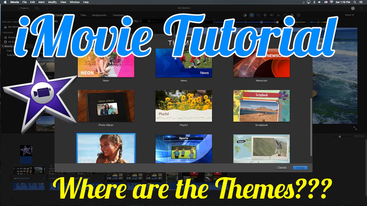 Imovie Tutorial How To Find The Imovie Themes Youtube