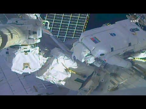 FULL US Spacewalk 48 International Space Station Robotic Arm Maintenance Coverage