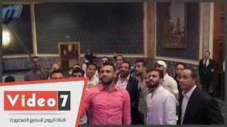 """حسن مصطفى و حازم إمام وأحمد السيد ومحمد كوفى فى إفطار """"اللاعبين المحترفين"""""""