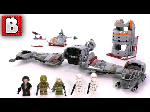LEGO Star Wars Defense of Crait  Set 75202 The Last Jedi | Unbox Build Time Lapse Review