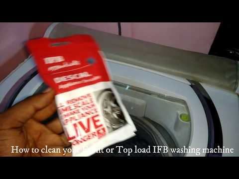 How to clean IFB Top load   washing machine?