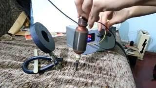 Как работает открытый двигатель постоянного тока / Лайфхак для проверки ротора (якоря)(Ротор от дрели вращается в магнитном поле. Двигатель постоянного тока, демонстрация. Как проверить ротор..., 2016-05-05T12:23:55.000Z)