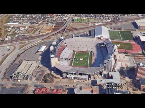 Google Earth - 3D Flyover - Memorial Stadium - Lincoln, Nebraska