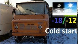 -18/-12 ŻUK COLD START / Odpalanie silnika Żuka na mrozie.