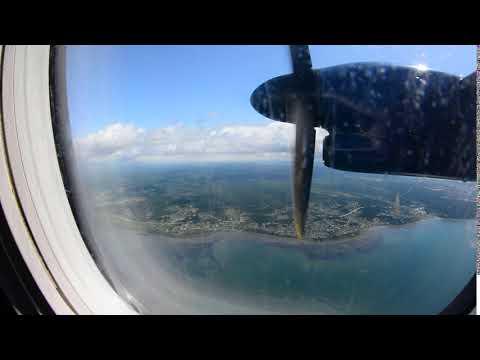 機窓新千歳>ユジノサハリンスクHZ4537便 12秒だけこれがコルサコフ・大泊右窓