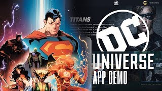 How does the DC UNIVERSE APP work? Live Demo and walkthrough (2018)