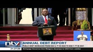 Kenya's public debt increased from Sh6.7trn in 2020 to Sh7.7trn in 2021