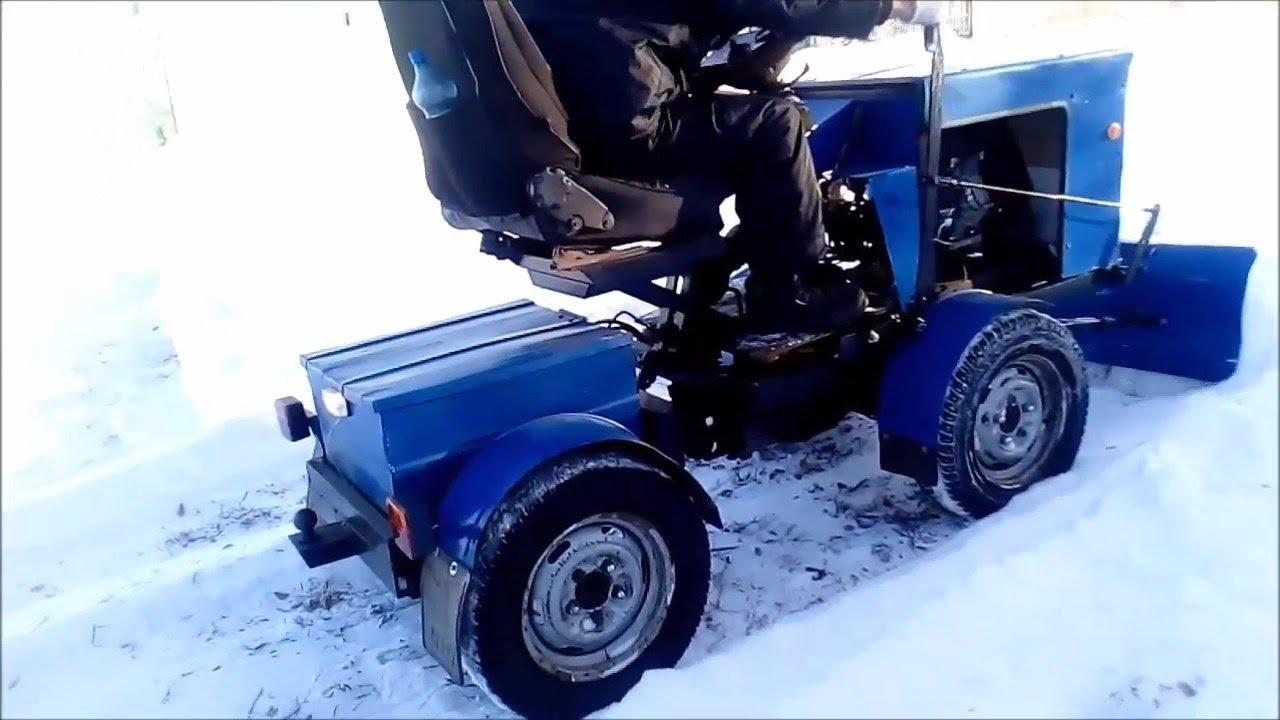 фото самоделки трактора с отвалом мгновенно преображается простую