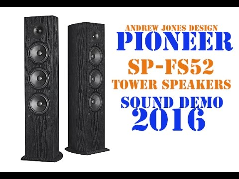 Pioneer FS52 Tower Speakers Sound Demo 2016 (Rock)