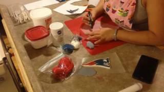 Falcons and The Patriots Fondant logo