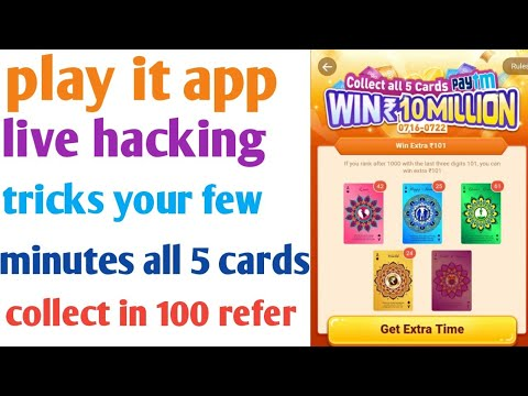 Play It Live Hacking Tricks You Collect All 5cards In Few Minutes 100 Refer Hack In Tamil Youtube