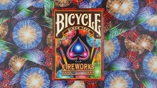 Bicycle Fireworks Playing Cards   Deck Review -Display