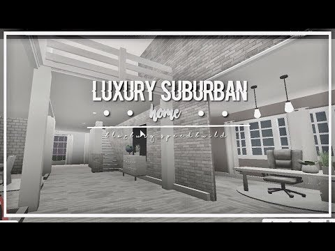 Roblox Bloxburg Luxury Suburban Home Youtube